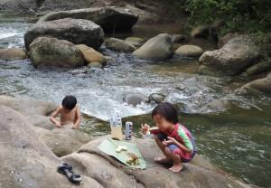 family holiday, adventure, outdoor, authentic, Sungai, Highlands, Kampung, Parang village, Kuching, Padawan, charity, volunteer, native, dayak bidayuh, mini library
