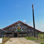 authentic, budaya, Borneo, Indonesia, East Kalimantan, Muara Badak, Suku Dayak Kenyah, native, sculptures, Totem Pole, obyek wisata, travel guide, tribe, village, 婆罗州旅游景点