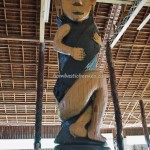 Balai Adat, indigenous, backpackers, culture, Borneo, Indonesia, totem pole, Tourism, tourist attraction, traditional, tribal, village, Suku Dayak Kenyah, 婆罗州, 旅游景点