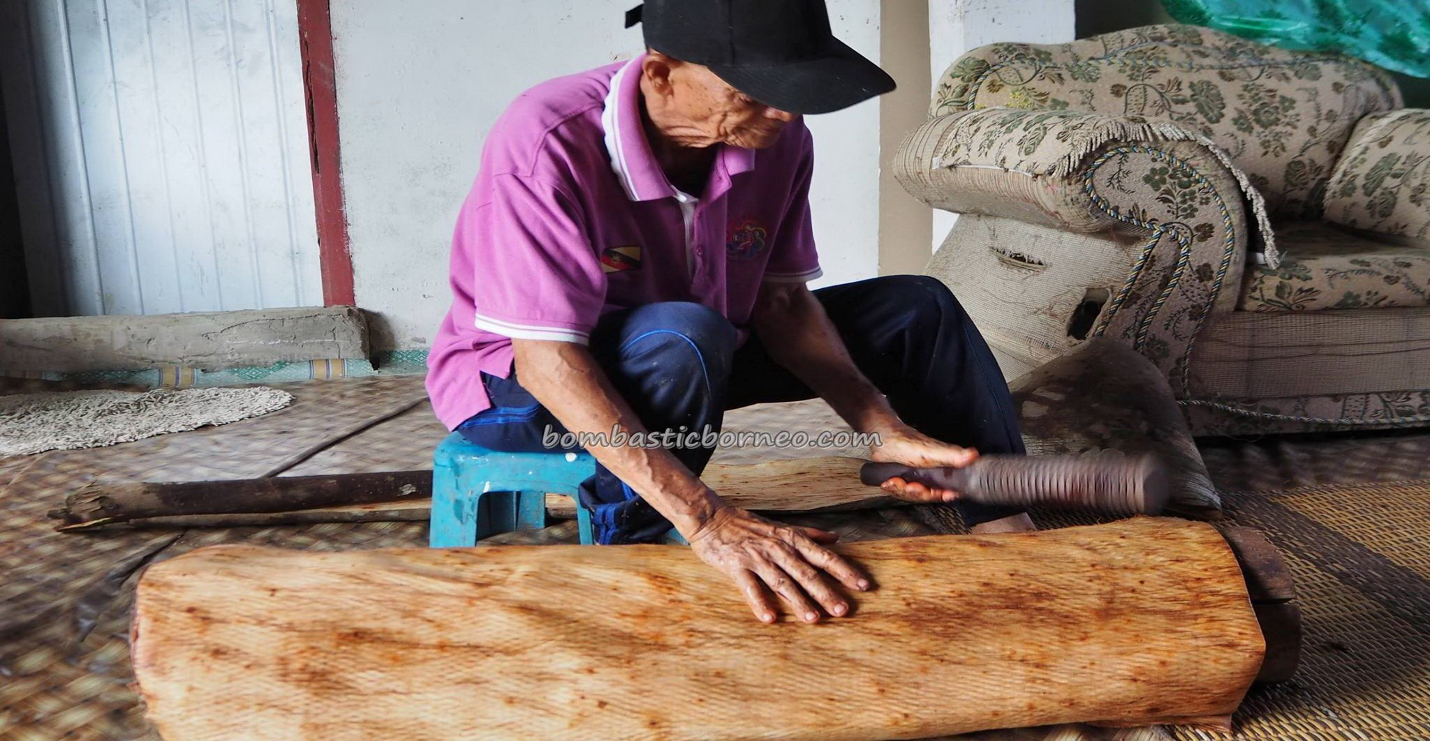 Kampung Tang Itong, kulit kayu topi, handicrafts, clothing, Kraftangan, authentic, backpackers, native, Lun Bawang artisan, Borneo, Lawas, Limbang, tourist attraction, traditional, travel guide, 老越砂拉越,