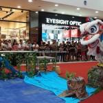 pertandingan, tarian singa, Plaza Merdeka, Sarawak, Kuching, Malaysia, championship, competition, traditional, Chinese New Year, Dragon and Lion Dance Association, event, travel, Kota Sentosa,