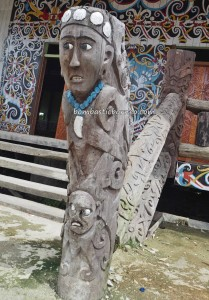 Balai Adat Desa Pimping, traditional, village, adventure, destination, Kalimantan Utara, Bulungan, dayak motif, native, tribal, tribe, Obyek wisata, travel guide, crossborder, 北加里曼丹, 婆罗洲原著民,