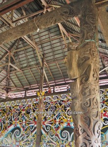 Balai Adat Desa Pimping, traditional, village, destination, Indonesia, Bulungan, Tanjung Palas Utara, dayak motif, sculptures, native, tribal, Tourism, tourist attraction, transborder, 北加里曼丹, 旅游景点,