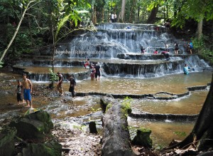 Air Terjun, Cascade, hotspring, adventure, nature, exploration, Borneo, North Kalimantan, Mentarang, family holiday, wisata alam, Tourism, tourist attraction, Transborneo, 北加里曼丹瀑布, 旅游景点