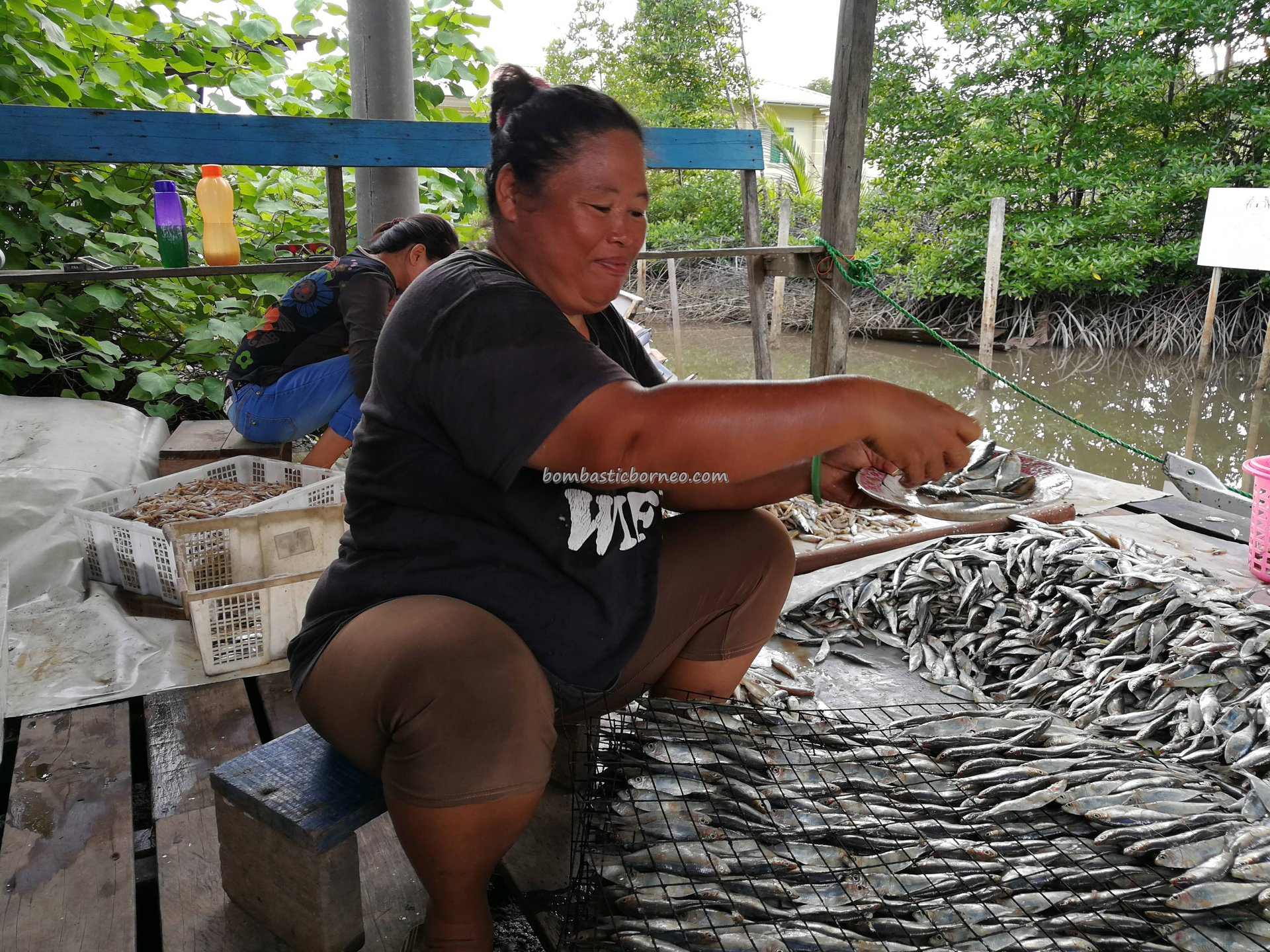 Malay Fishing Village, Floating House, authentic, traditional, Borneo, Limbang, Malaysia, Sarawak, Tourism, travel guide, seafood, exotic delicacy, smoked fish, fishy snack, transborneo, 老越旅游景点