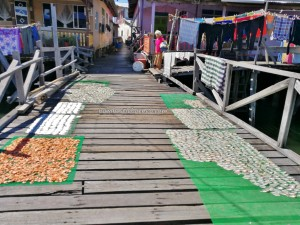 Kampung Awat-Awat, Malay Fishing Village, authentic, traditional, destination, Limbang, Malaysia, Tourism, tourist attraction, seafood, udang kering, dried prawn, fishy snack, Ikan Tahai, transborneo, 砂拉越旅游景点