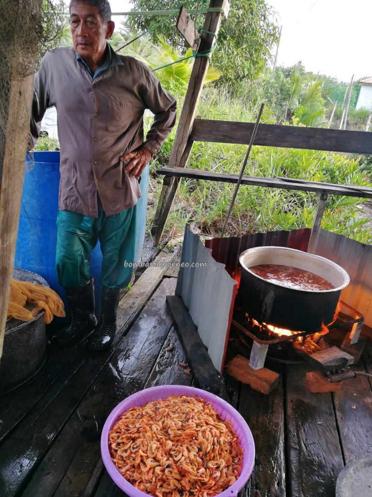 Kampung Melayu, water village, authentic, traditional, Borneo, Limbang, Malaysia, Sarawak, nelayan, tourist attraction, travel guide, seafood, exotic delicacy, dried shrimp, prawn, 老越砂拉越