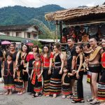 Kampung Taee, authentic, traditional, indigenous, culture, backpackers, Borneo, Kuching, Serian, tribal, street parade, Tourist attraction, travel guide, crossborder, 西连砂拉越, 原住民部落丰收节日