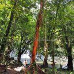 Waterfall, adventure, nature, jungle trekking, destination, Borneo, Desa Bengkilu, Dusun Laek, Tujuh Belas, Tourism, tourist attraction, transborder, 印尼西加里曼丹, 婆羅洲瀑布, authentic village