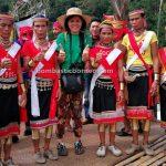 Gumbang Village, Gawai Serumpun, Dayak Bidayuh, paddy harvest festival, indigenous, backpackers, Sarawak, Malaysia, budaya, copper ring lady, native, tribe, Tourism, travel guide, trans borneo, West Kalimantan,