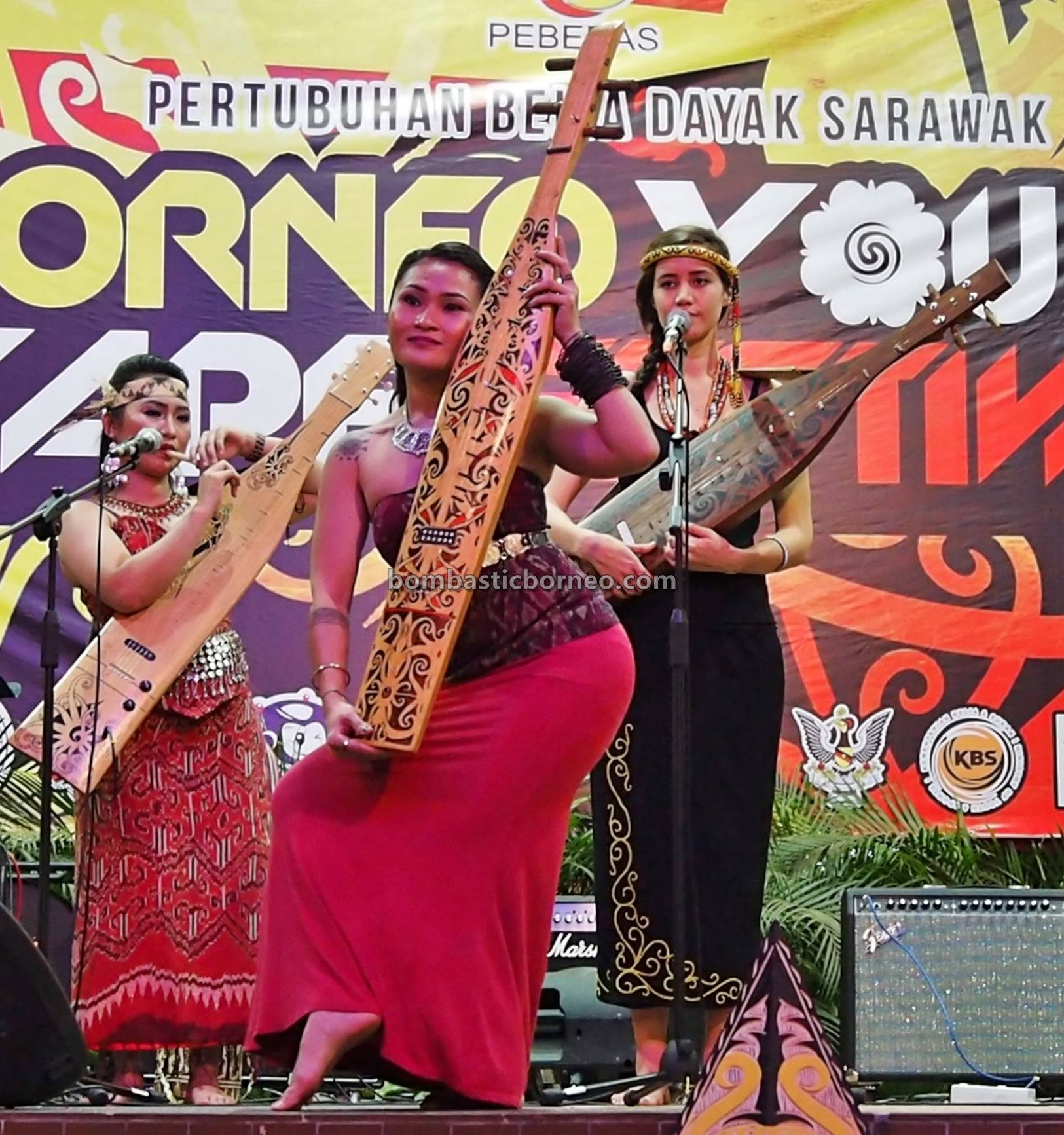 Borneo guitar, Youth Sape Festival, authentic, traditional, culture, event, indigenous, native, tribal, orang ulu, Sarawak, Malaysia, Tourist attraction, travel guide, cross border