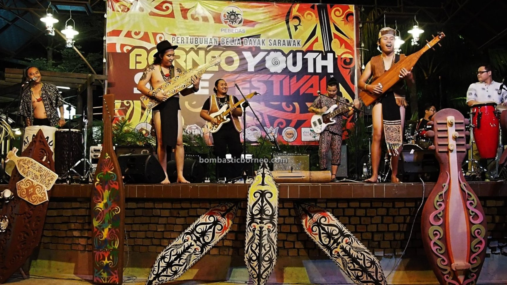 Borneo Youth Sape Festival, authentic, traditional, backpackers, event, native, tribal, orang ulu, One Malaysia Cultural Village, Tourism, tourist attraction, travel guide, Trans Border, 婆罗洲达雅吉他, 砂拉越原住民音乐