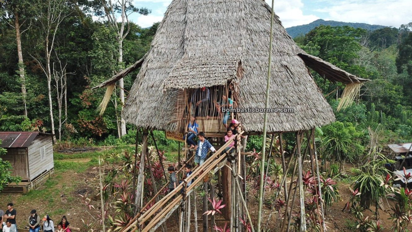Nyobeng Rambai, traditional, culture, Bengkayang, Desa Sahan, Dayak Bidayuh, Native, tribal, Rumah Adat Baluk, skull house, Obyek wisata, Tourism, travel guide, 穿越婆罗洲游踪, 西加里曼丹达雅部落, 印尼孟加映原住民