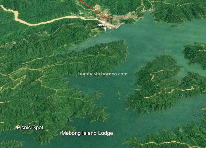 Hydroelectric Power dam, Embankment Dam, empangan, Mebong Cove Villa, backpackers, destination, Balui river, exotic fish, fishing trip, Kapit, tourist attraction, Trans Borneo, 婆罗洲游踪, 砂拉越峇贡水坝, 加帛马来西亚,