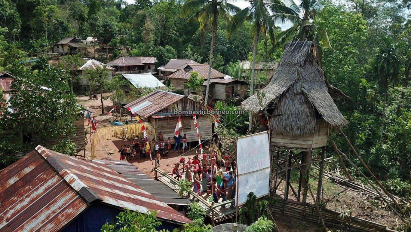 Gawai Nyobeng, authentic, traditional, destination, Dayak Kowon't, Ethnic, native, village, Rumah Adat Baluk, skull house, Tourism, Travel guide, Trans Border, Borneo, 印尼西加里曼丹, 达雅土著部落