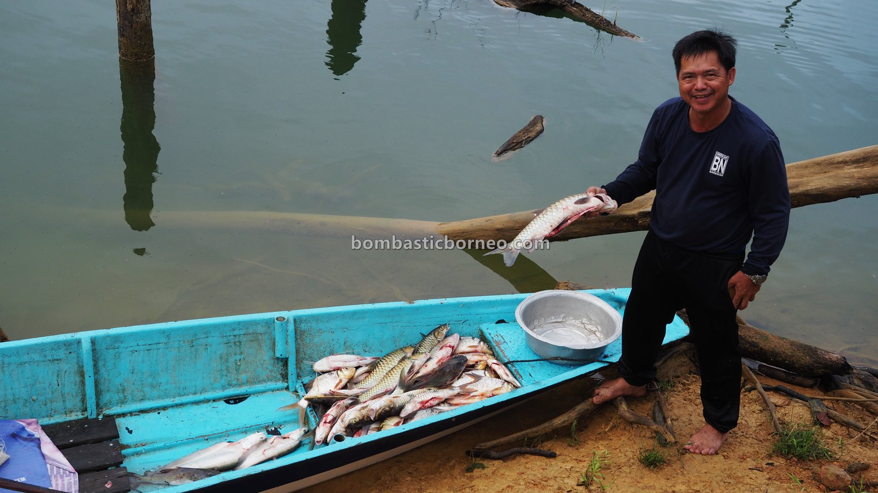 empangan, exotic fish, Ikan semah, traditional, hunting, memancing, homestay, Belaga, Kapit, Orang Ulu, travel guide, Trans Border, Borneo, 婆罗洲钓鱼之旅, 砂拉越峇贡水坝, 马来西亚旅游景点