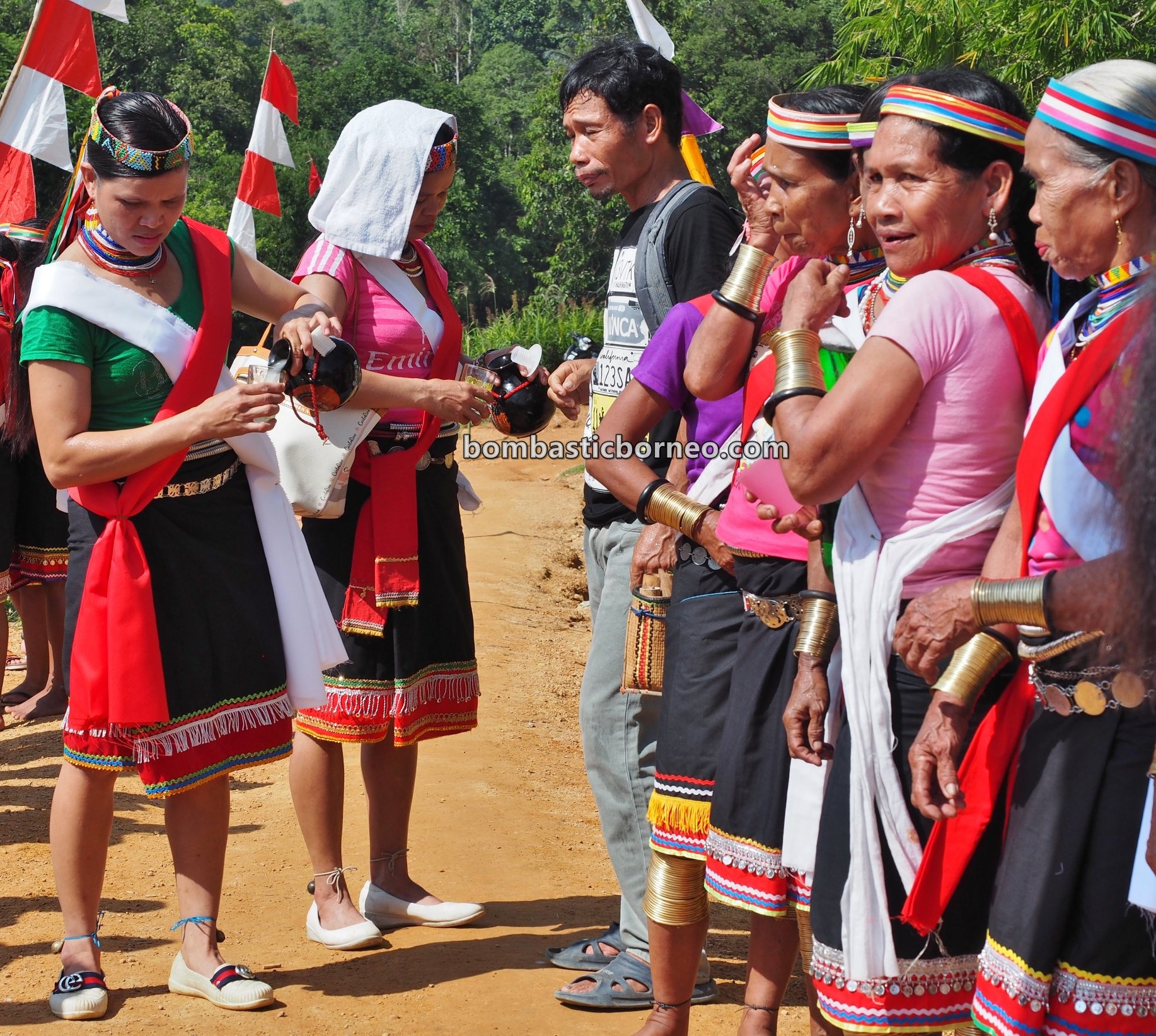 Gawai harvest festival, Sungkung Medeng, copper ring lady, indigenous, culture, Bengkayang, Indonesia, West Kalimantan, Dayak Bidayuh, native, tribe, tourist attraction, travel guide, Trans Border, Borneo