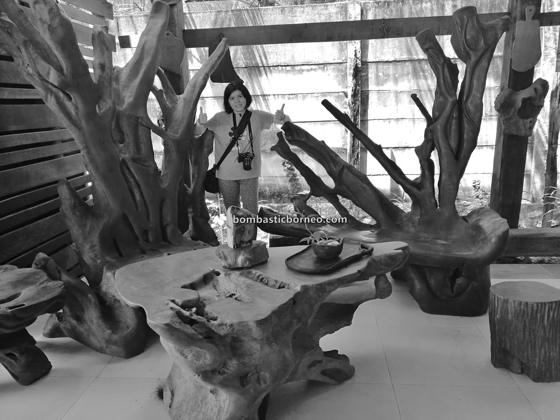 belian wood, kayu ulin, Furniture, collection, gallery, Singkawang, kerajinan kayu, nature, Tourism, tourist attraction, travel guide, wood sculptures, 探索婆罗洲木雕, 西加里曼丹山口洋, 南洋铁木展示中心