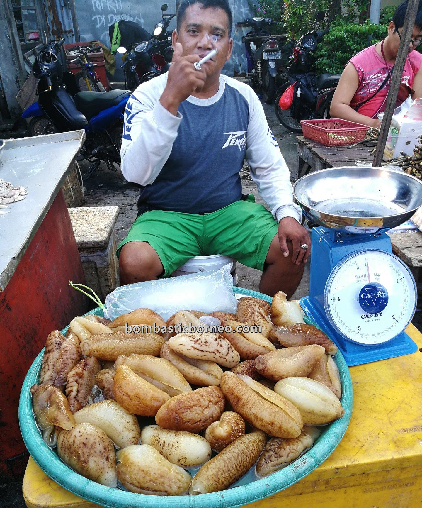 Local Market, authentic, traditional, destination, Kalimantan Barat, seafood, sea cucumber, Obyek wisata, Tourist attraction, travel guide, Trans Borneo, 探索婆罗洲游踪, 印尼西加里曼丹, 山口洋海鲜早市