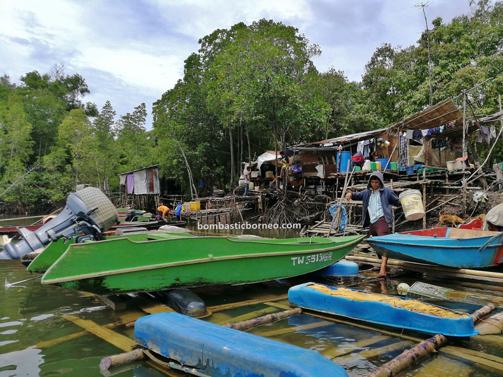 Sea Gypsies, fishing village, Pulau, boat ride, jelajah, exploration, adventure, backpackers, Bajau Laut, mangrove forest, tourism, Cross Border, 穿越婆罗洲游踪, 马来西亚沙巴