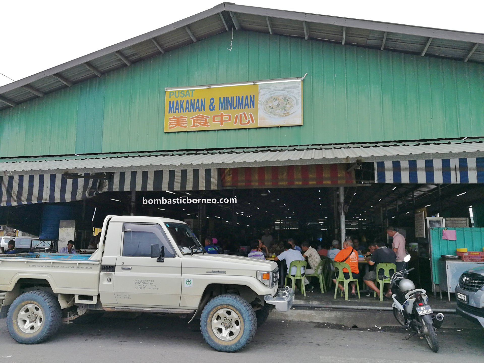 local market, traditional, backpackers, destination, exploration, seafood, makanan laut, Borneo, Malaysia, Tourism, tourist attraction, travel guide, 马来西亚沙巴, 新安综合巴刹, 斗湖美食中心,
