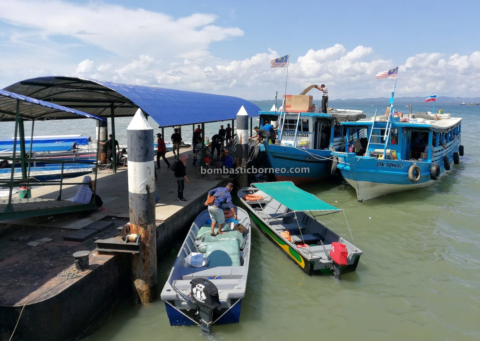 boat ride, adventure, backpackers, destination, exploration, jeti, Transportation, wharf, port, Tourism, tourist attraction, Borneo, 婆罗洲游踪, 马来西亚沙巴斗湖