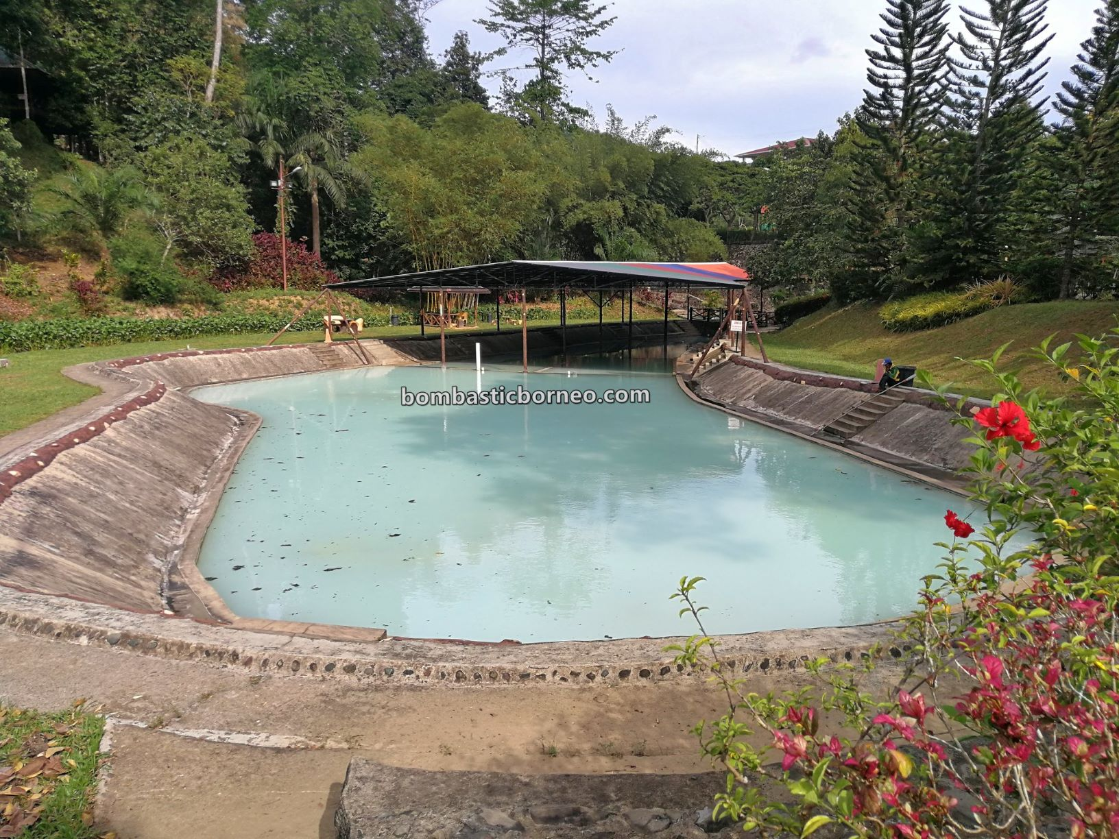 Sankina Hotspring Park, outdoor, recreational, water park, destination, family vacation, holiday, Malaysia, Tourism, tourist attraction, Travel guide, Borneo, 婆罗洲游沙巴, 善勤温泉乐园, 斗湖温泉旅游景点
