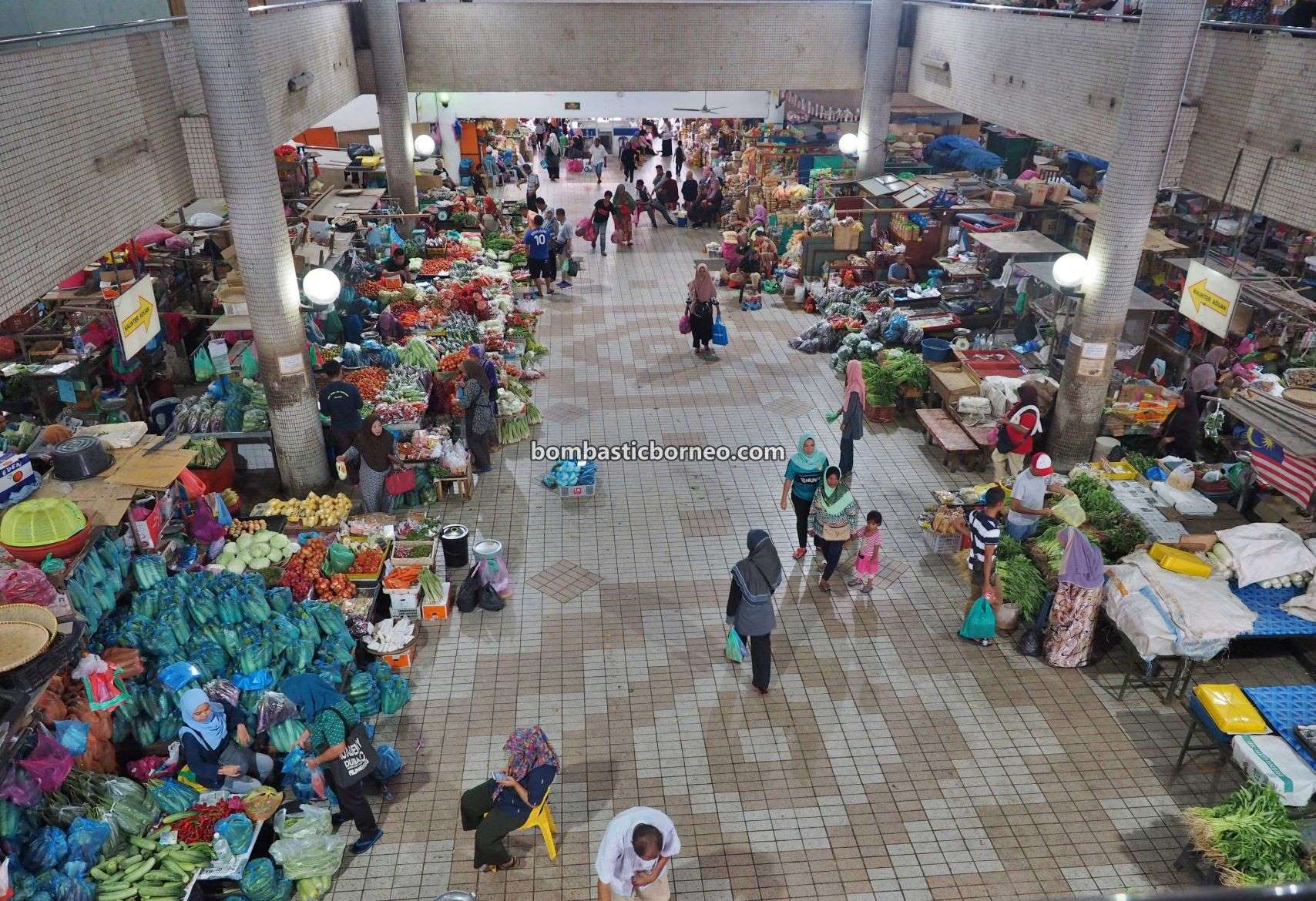 backpackers, destination, exploration, food court, Pekan, town, Malaysia, Sabah, Tawau, traditional, Tanjung Market, Tourism, tourist attraction, Travel Guide, Borneo,