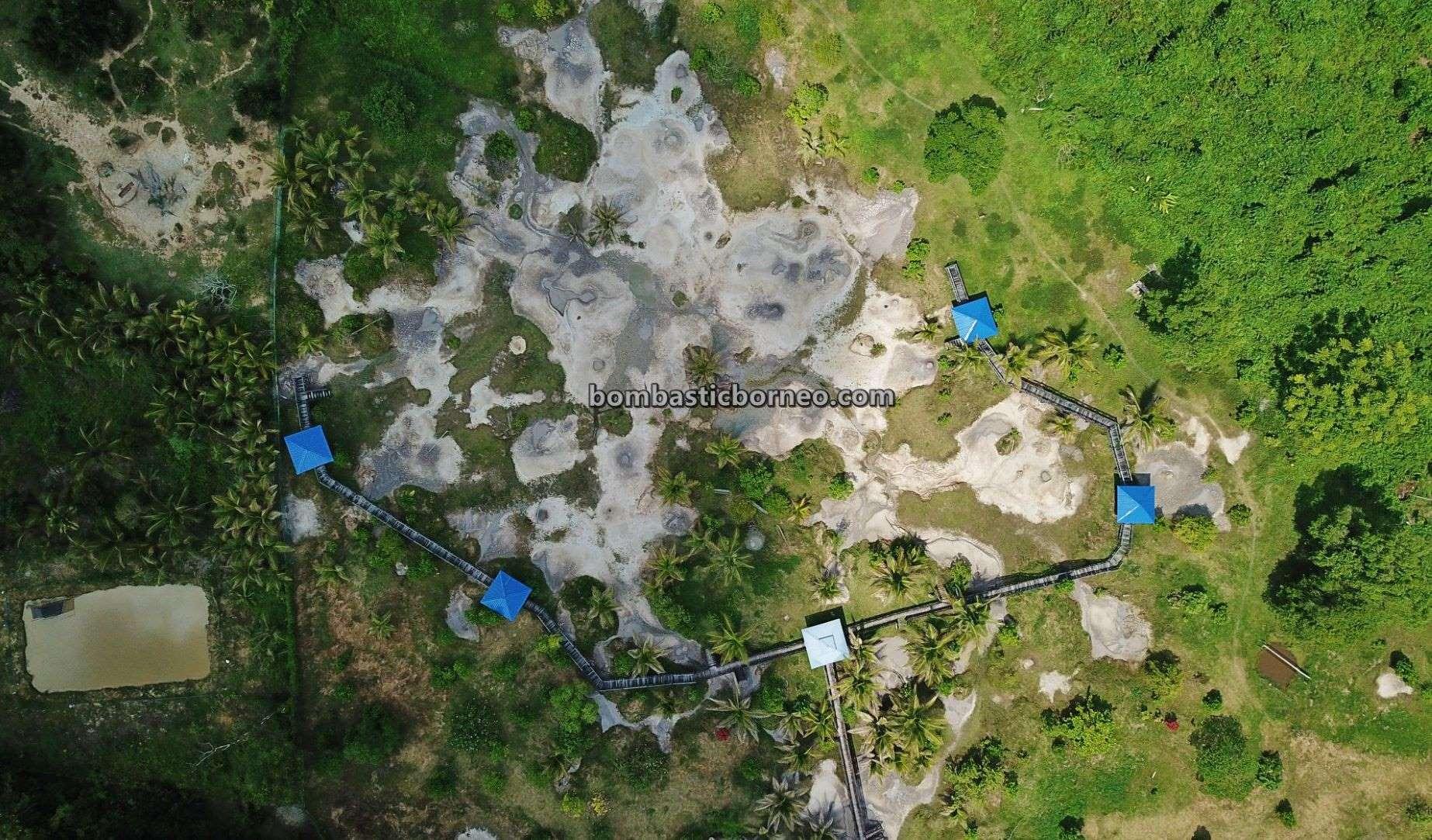 Lumpur Bebuak, Mud Volcano, Tarikan Pelancong, Kampung Meritam, Malay Village, adventure, nature, outdoor, destination, Sarawak, Malaysia, Tourism, tourist attraction, travel guide, Trans Borneo