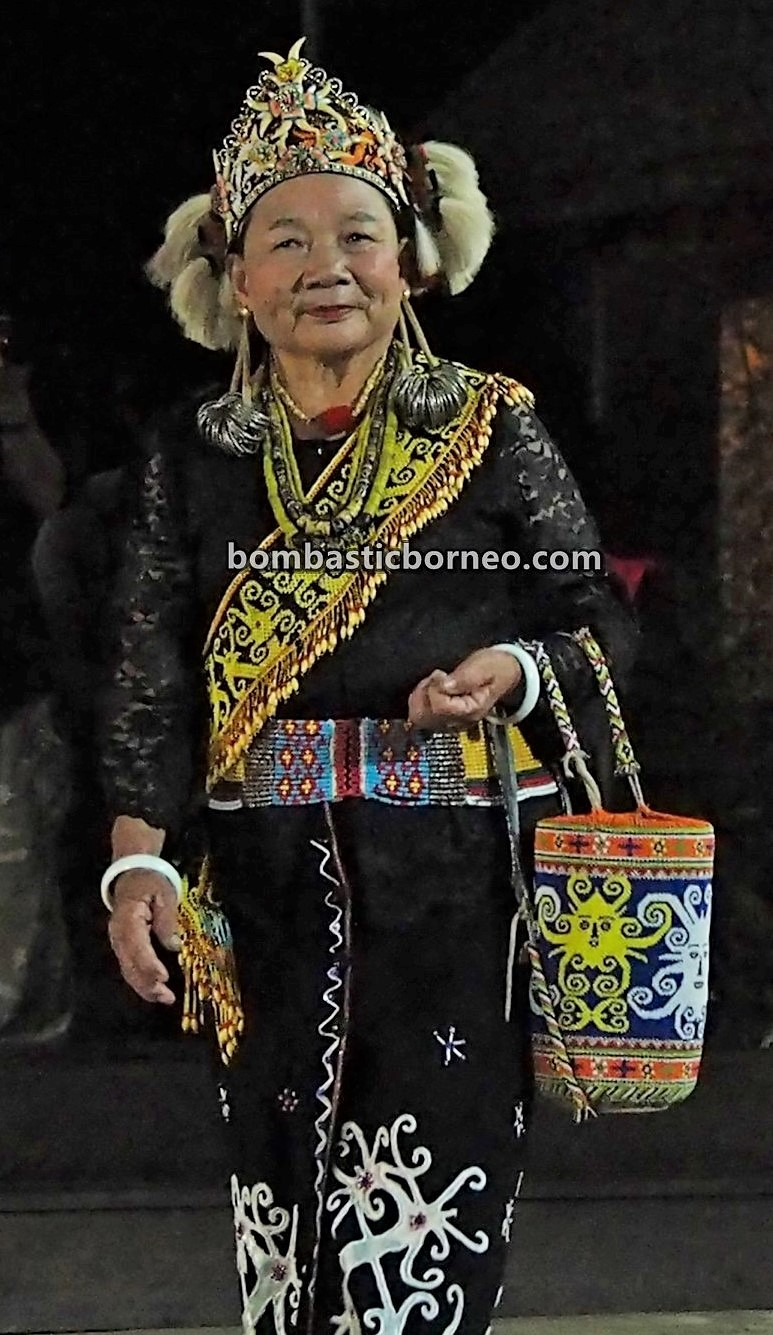 Pesta Nukenen, Bario Food Cultural Festival, elongated earlobes, beads, authentic, indigenous, traditional, Dayak Kelabit, native, orang ulu, tribal, Malaysia, Sarawak, Travel, Borneo,