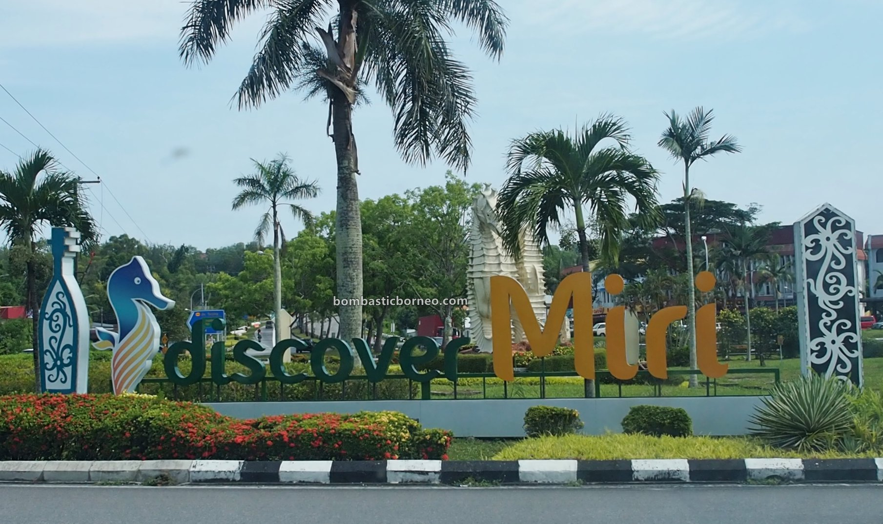 backpackers, destination, Miri waterfront, Seahorse, Tourist attraction, tourism, Trans Borneo, 探索婆罗洲游踪, 马来西亚砂拉越美里