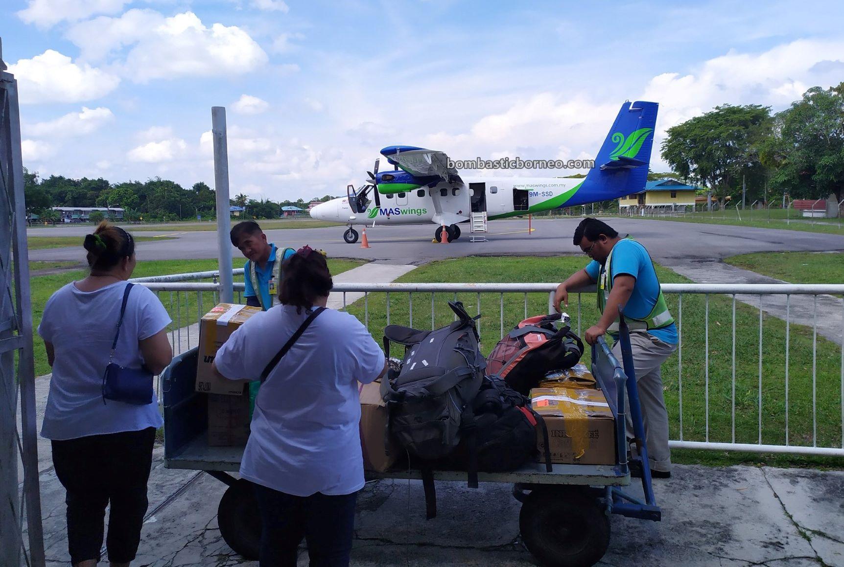 Mas wings, twin otter flight, adventure, Transportation, interior, airport, exploration, Tourism, tourist attraction, Trans Border, Borneo, 跨境婆罗洲游踪, 马来西亚砂拉越, 马鲁帝机场
