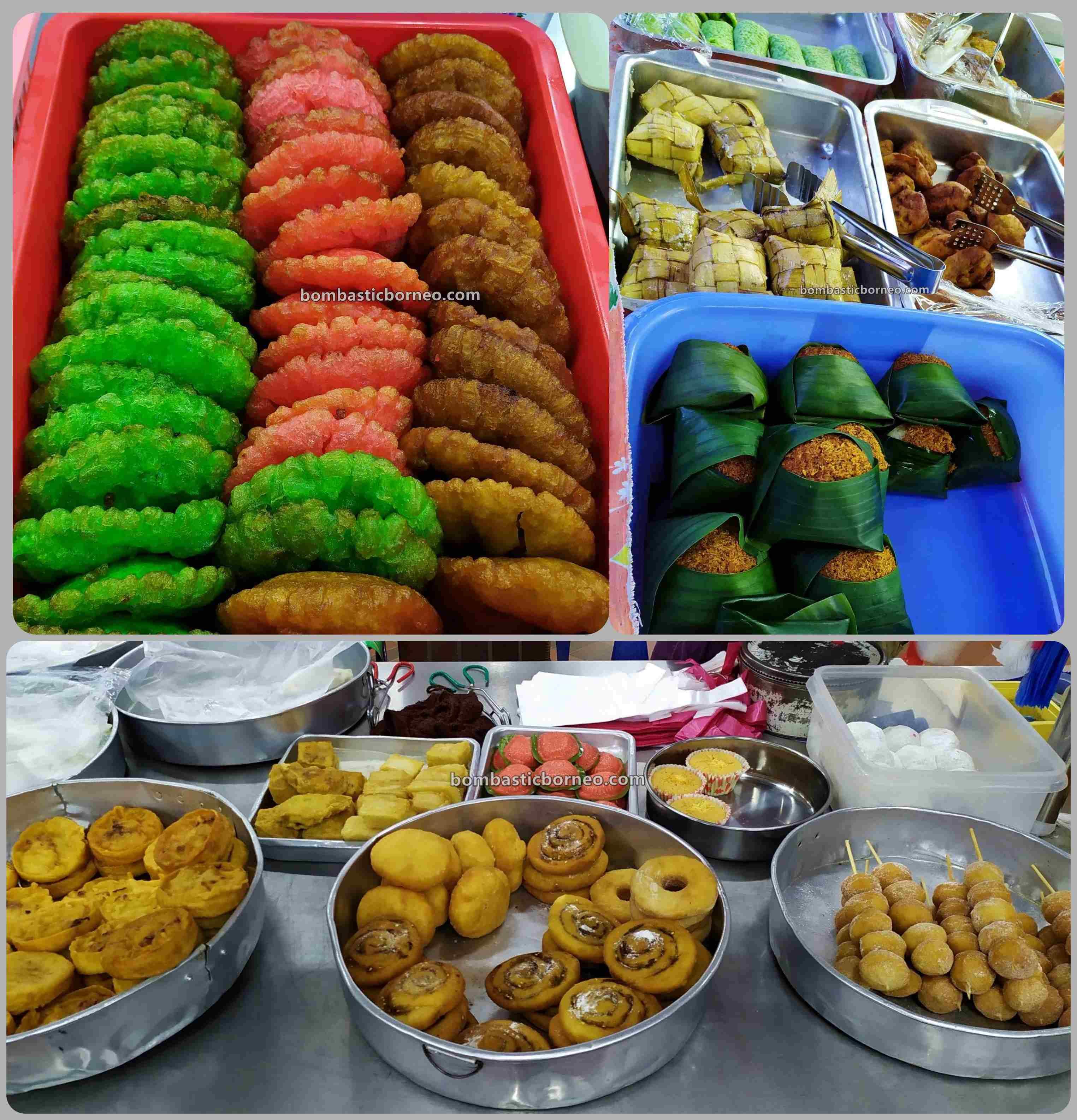 cakes, fruits, backpackers, Destination, exploration, traditional, local market, native market, town, Tourism, tourist attraction, Borneo, 马来西亚砂拉越, 美里马鲁帝早市,