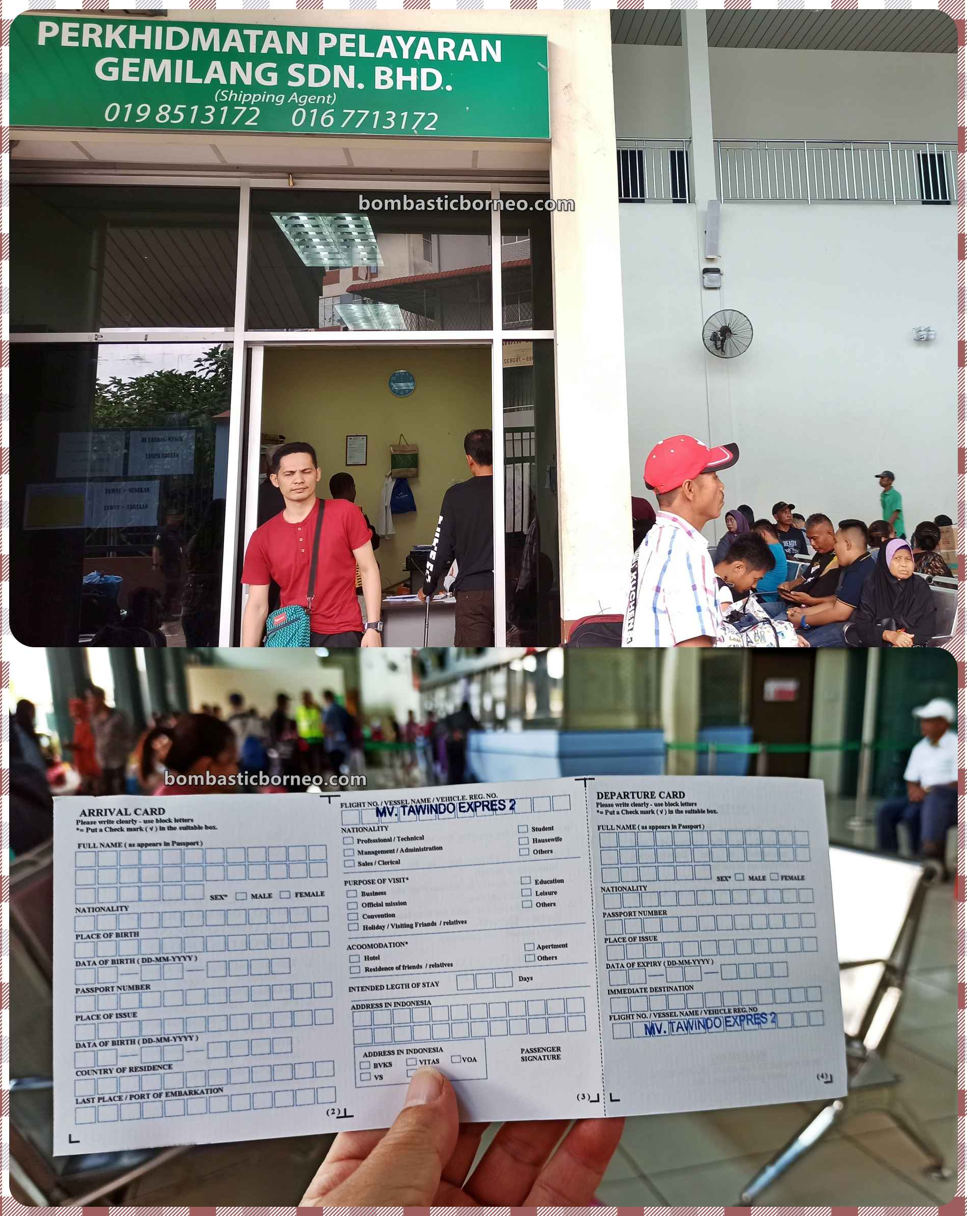 Ferry terminal, Express Boat Ride, backpackers, Imigrasi, information, Kapal Besar, MV Tawindo, port, Malaysia, Tourism, Transportation, Border crossing, Borneo, 跨境婆罗洲游踪, 沙巴斗湖轮渡码头
