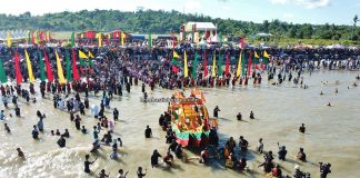 Padaw Tuju Dulung boat, Suku Dayak Tidung, upacara adat, authentic, traditional, ritual, native, tribal, Pantai Amal, Pariwisata, Tourism, Borneo, 婆罗洲北加里曼丹, 印尼打拉根岛, 原住民达雅传统文化