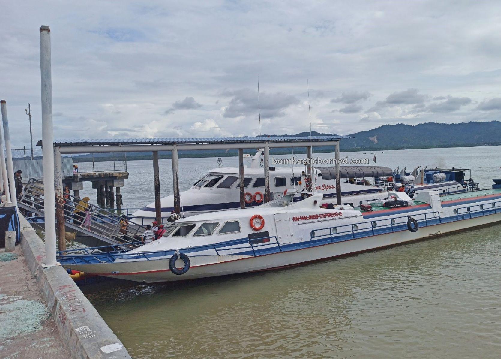 Speedboat, express boat, ferry ride, Transportation, backpackers, destination, exploration, Indonesia, Kalimantan Utara, tourism, travel guide, Trans Border, Borneo, 跨境婆罗洲游踪, 印尼北加里曼丹