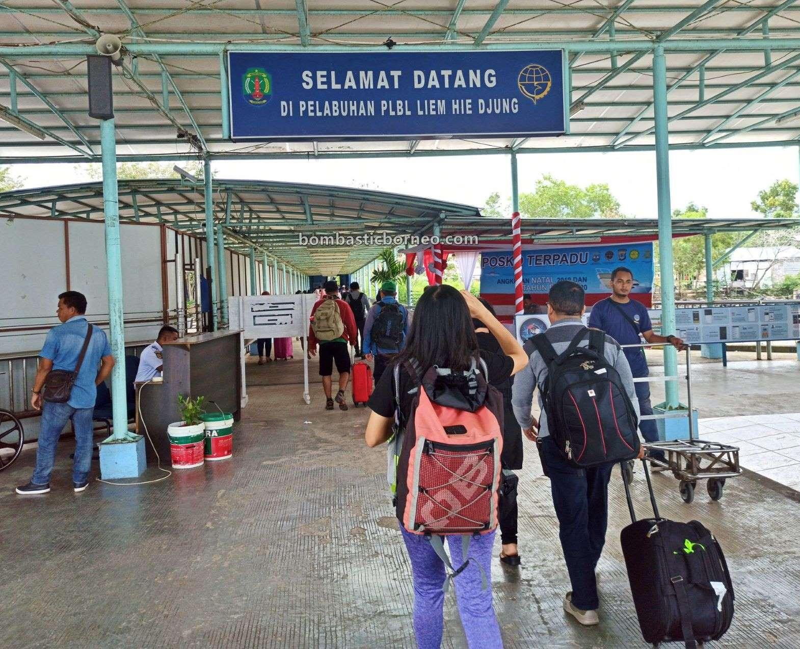 ferry terminal, express boat, speedboat ride, Kapal Besar, international, backpackers, exploration, destination, Indonesia, obyek wisata, Tourism, travel guide, cross border, 跨境婆罗洲游踪, 印尼北加里曼丹