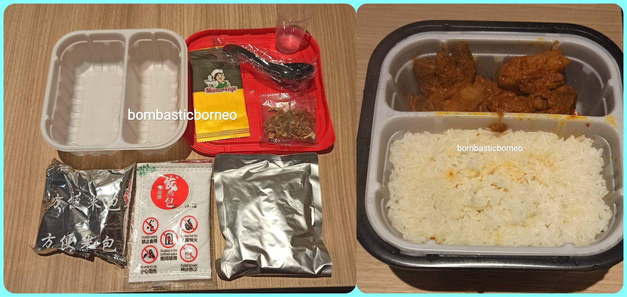 Kuching, Serian, Sarawak, Malaysia, Borneo, outdoor, instant rice, nasi rendang, 素食, 快餐, 冷当饭, 即食面