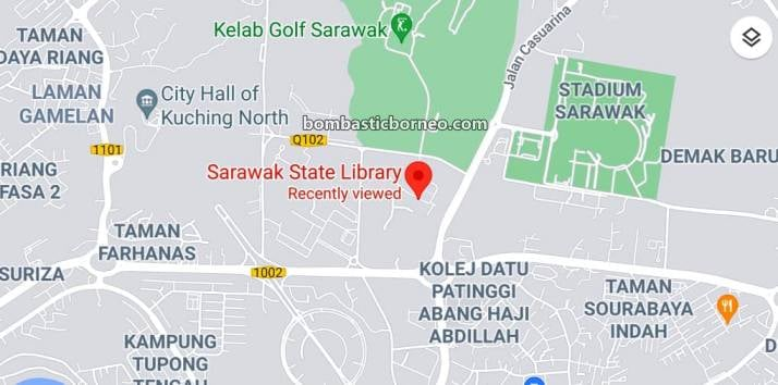 Sarawak State Library, tempat senaman, aerobic, jogging, outdoor, exercise, garden park, manmade lake, Borneo, objek wisata, Tourism, travel local, 砂拉越州立图书馆, 马来西亚古晋,